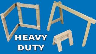 7+ Awesome DIY Sawhorses