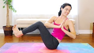Beginners Yoga for Belly Fat with Julia ♥ Flat Abs, 20 Minute Class At Home for Core, Obliques
