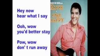 Elvis Presley- I Need Your Love Tonight- Cover With Lyrics (Pattarasila59)