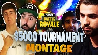 $5,000 YouTuber/Streamer Fortnite Tournament Montage