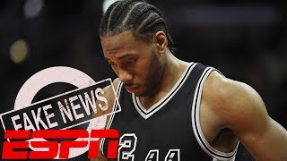 ESPN Kawhi Leonard Report Called FAKE NEWS By Spurs Danny Green