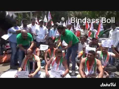 NCP Students wing protest for Farmers rights in Maharashtra