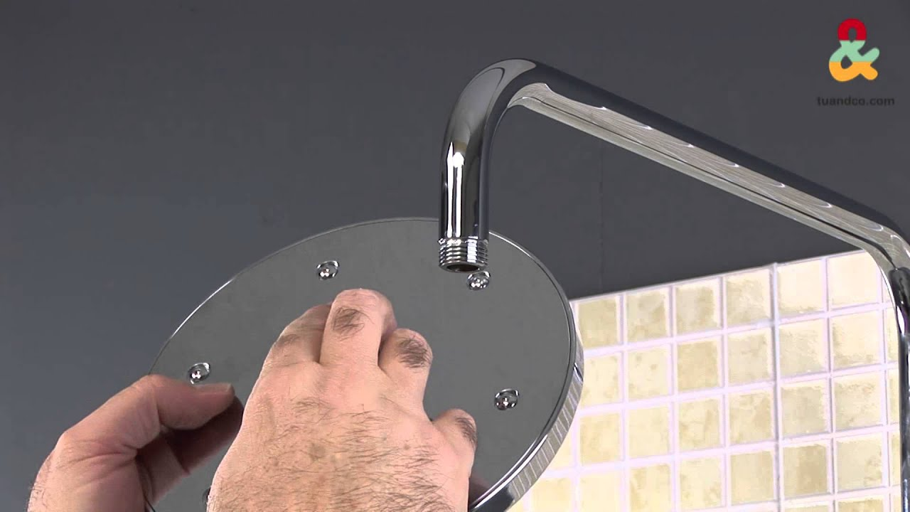 C mo instalar una columna de ducha youtube - Instalar una mampara de ducha ...