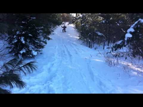 Ryan graves first day on cross country skiing
