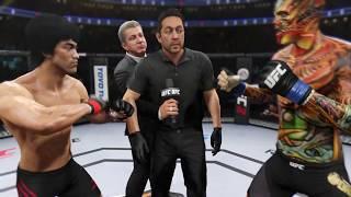 Bruce Lee vs. Hell Dragon (EA Sports UFC 2) - CPU vs. CPU