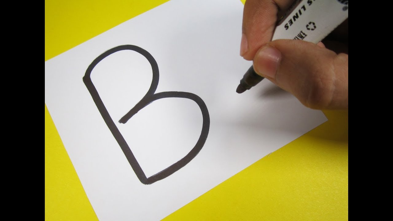 5 Letter Cartoon Characters : How to turn letter quot b into a cartoon bird fun with