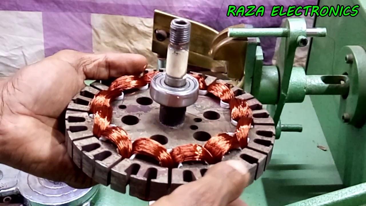 Ceiling Fan Rewinding In Machine And Winding Formula Details Urdu Hindi