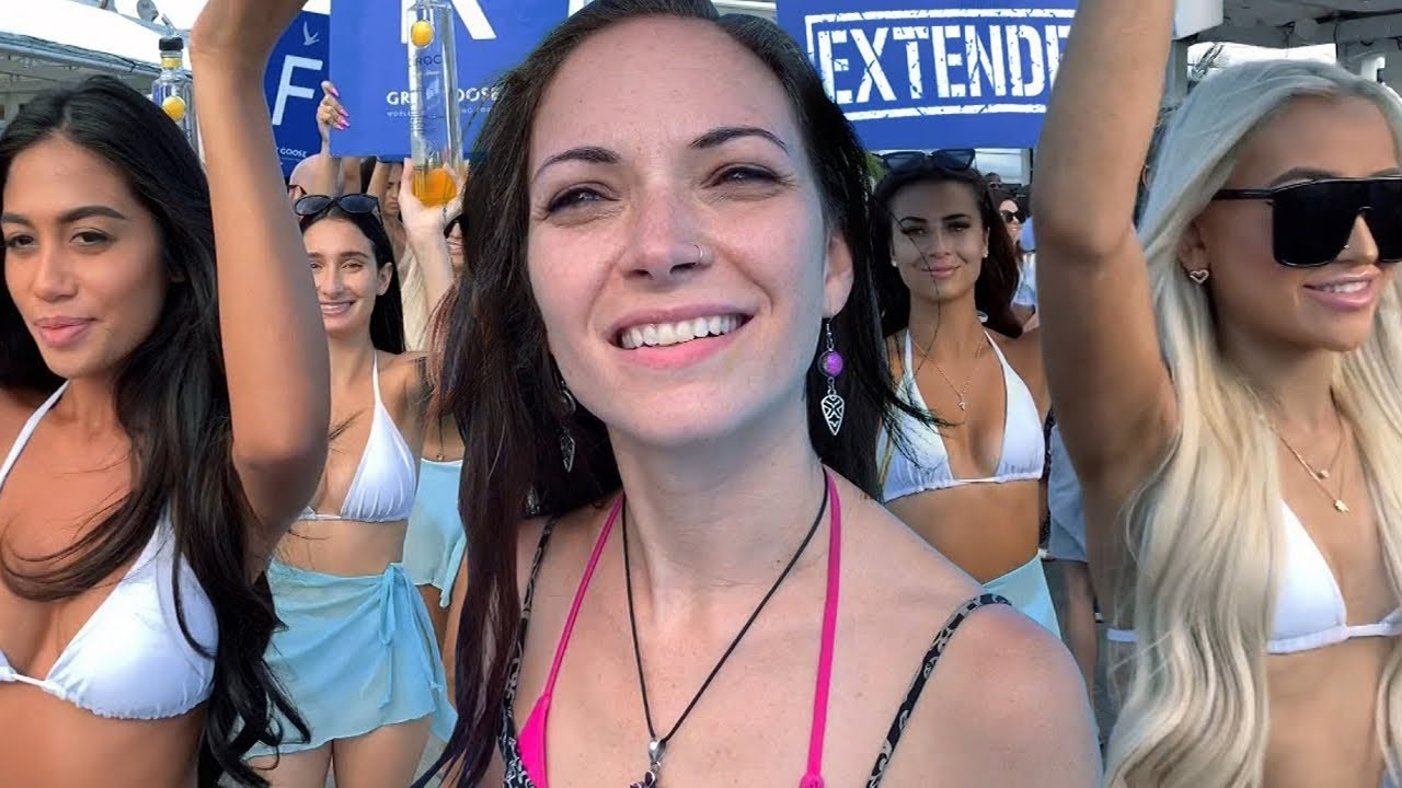 Spring Breakers Gone Wild . Bikini Cabana Girls Pool Party Video [4k]