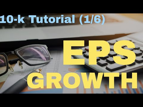 10k Report Tutorial (1/6): EPS Growth Calculation