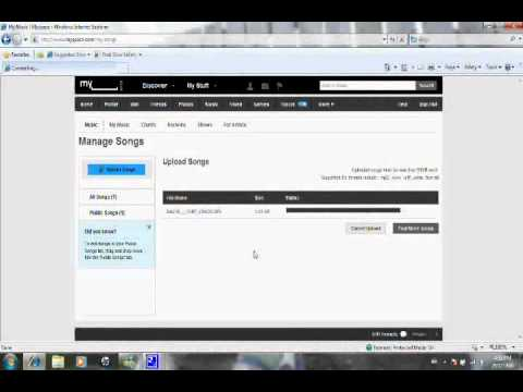 How To Upload Your Own Music To Your Myspace Page