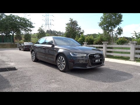 2013 Audi A6 hybrid Start-Up, Full Vehicle Tour, and Quick Drive