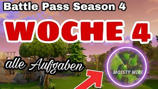 BATTLE PASS SEASON 4 WEEK 4 ALL TASKS!!! Fortnite Battle Royale