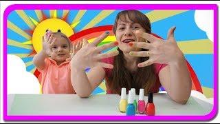 Oje Colorate   Invatam Culorile cu Anabella Show