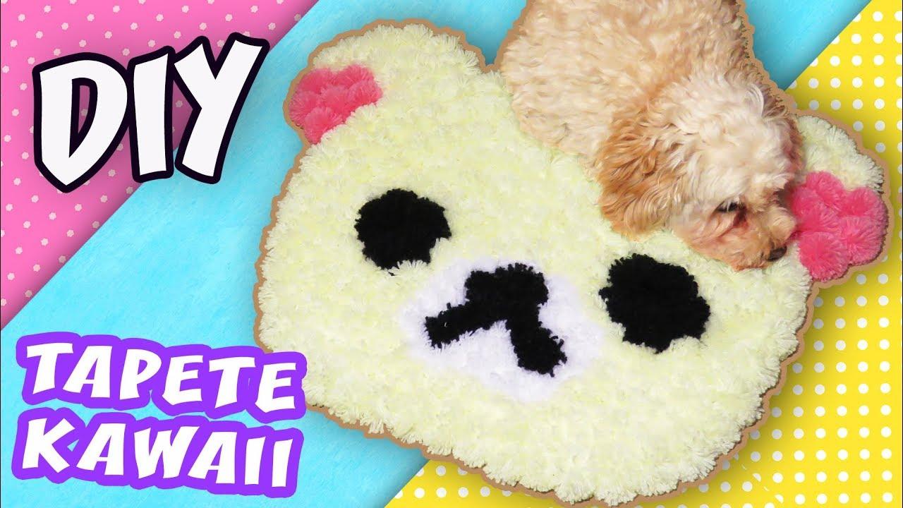 Alfombra kawaii de pompones hazlo f cil youtube - Como hacer alfombras con trapillo ...
