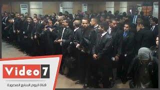 شاهد استعدادات المحامين الجدد لحلف اليمين أمام مجلس النقابة