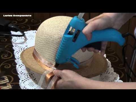 Как красиво украсить шляпку