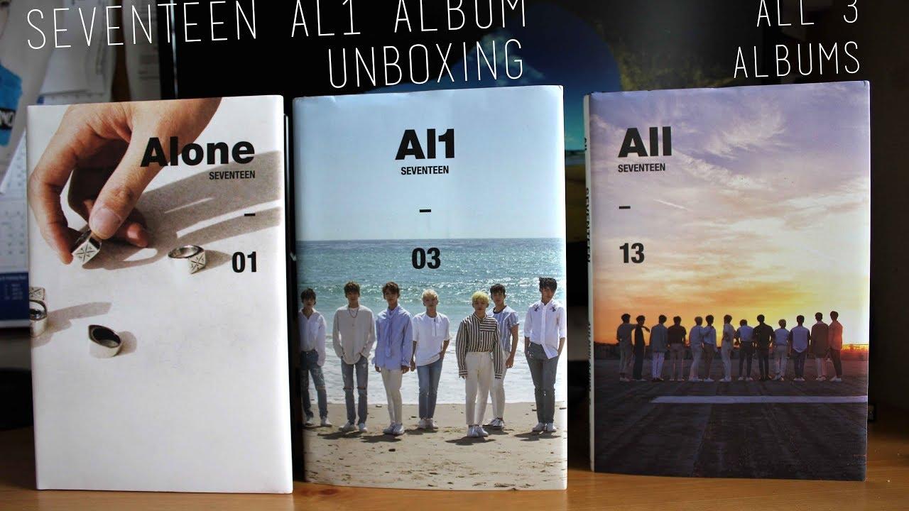 UNBOXING: SEVENTEEN AL1 Album (ALONE + AL1 + ALL)