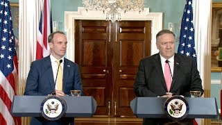 Watch again: Dominc Raab and Mike Pompeo hold first joint press conference
