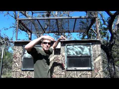 Custom Texas Hunting Blind Tips, Adding 12 Volt Power 5/5