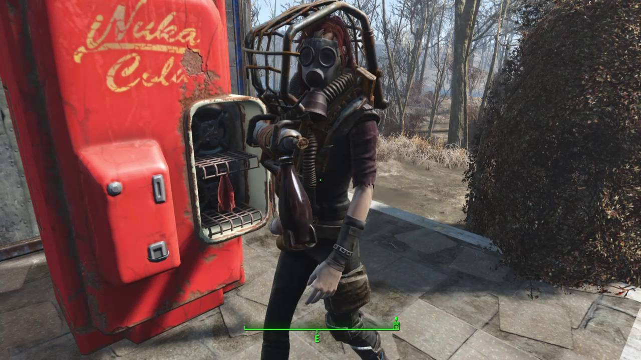 how to place a nuka cola bottle in a nuka cola machine in fallout 4