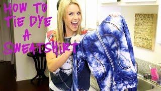 DIY: How To Tie-Dye An Old Stained Sweatshirt