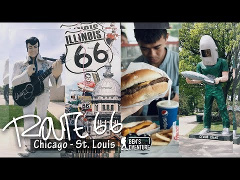 Route66之一路向西 (芝加哥-聖路易斯)   Part 1 on Route66: Chicago to St. Louis