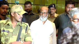 Rajinikanth Arrives At Mumbai Airport With Tight Security To Shoot For Kaala Movie