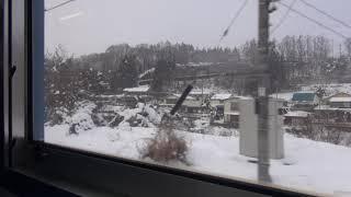 しなの鉄道北しなの線115系 車窓 車内走行音 刻々と変わる雪景色