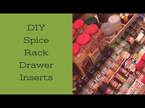DIY SPICE RACK DRAWER INSERT