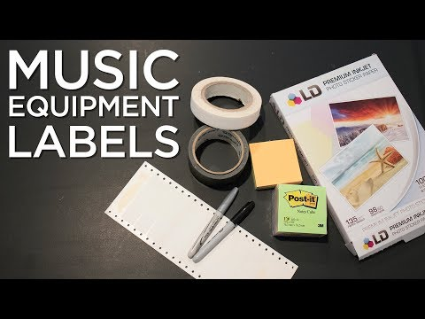 What Is the Best Method For Labeling Audio Equipment?