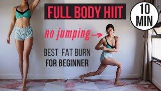 Best 10 min Begİnner Full Body HIIT for Fat Burn - NO JUMPING ~ Emi