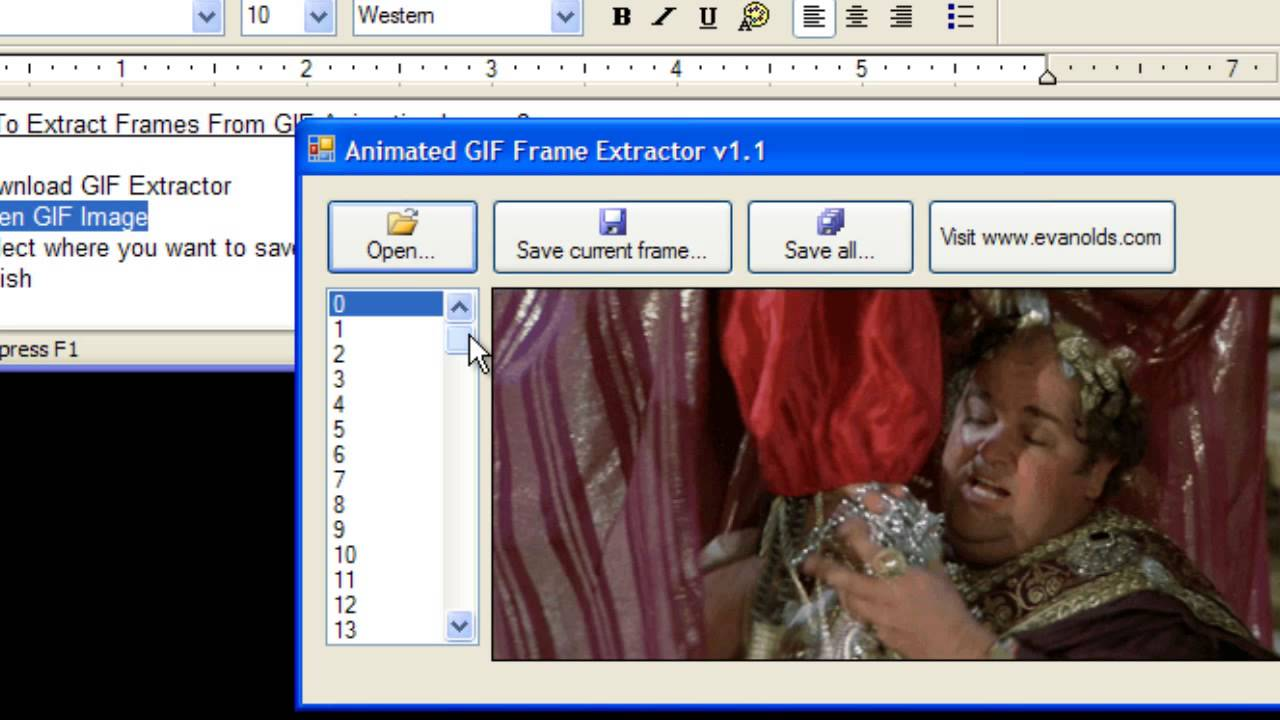 How to Extract Frames From GIF Animation Image - YouTube