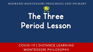How to Conduct a Three Period Lesson