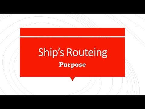 Ship's Routeing System - Purpose and general principles
