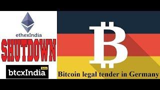 BtcxIndia, EthexIndia shutting down || BITCOIN legal in GERMANY || by Crypto Phoenix
