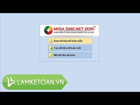[Kế toán Tổng hợp - P8] Hướng dẫn phần mềm kế toán MISA 2015 miễn phí: Tạo dữ liệu