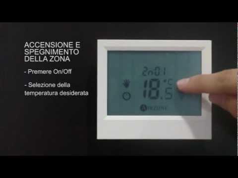 Termostato tacto airzone utilizzo base for Termostato vemer istruzioni