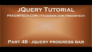 Simple jQuery Progress Bar