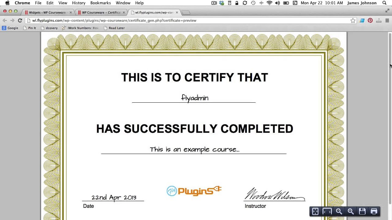 How to generate a pdf certificate of completion for your course how to generate a pdf certificate of completion for your course yelopaper Image collections