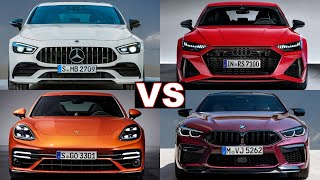 Top 5 Super Luxury Sport Sedan Cars (2021) porsche panamera, amg gt 4-door, audi rs7, bmw m8. review