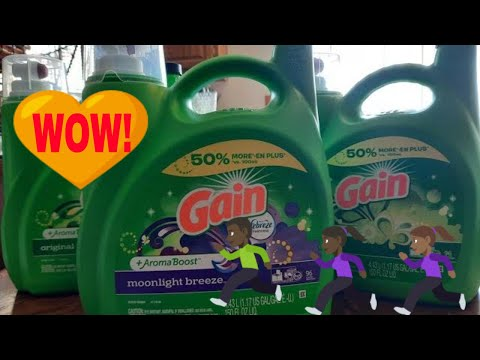 How to save on Gain Laundry Detergent 💥 3 large jugs of Gain detergent for $5.50 EACH!!!
