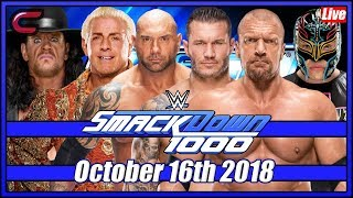 WWE SmackDown 1000 Live Stream Full Show October 16th 2018: Live Reaction Conman167
