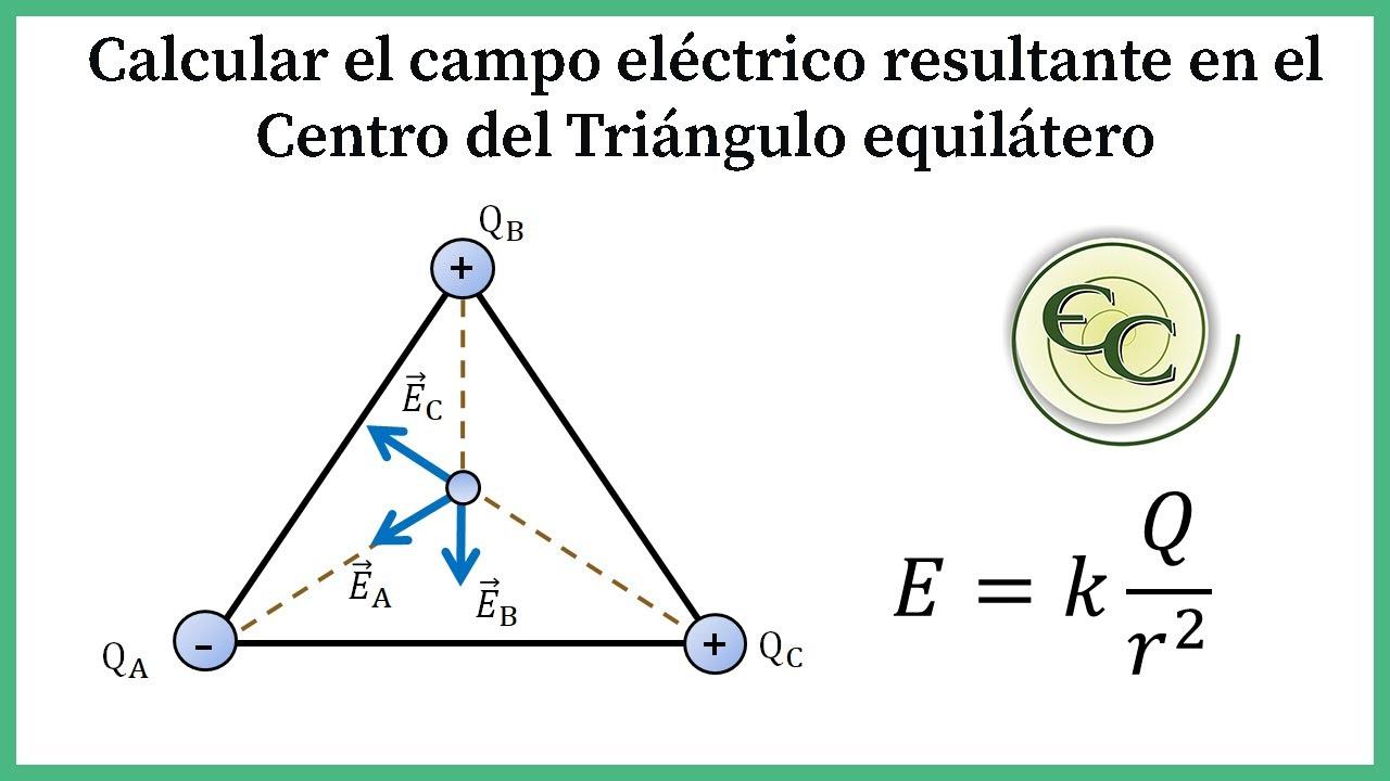 Campo electrico en el centro de un triangulo equilatero youtube - Como vallar un campo ...