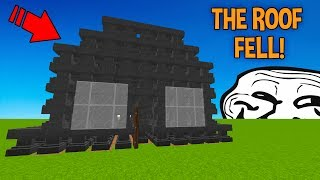 TURNING PLAYERS HOUSE INTO ANVILS! (Minecraft Trolling)