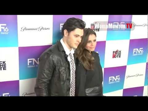 Alexandra Chando and Blair Redford  Red Carpet at the Friends & Family PreGrammys Party 2013