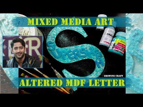 Shaheer sheikh♡MIXED MEDIA ALTERED MDF ♡DIY DECOR♡NAME PLATE MAKING♥handmade gifts and decor-terbaru