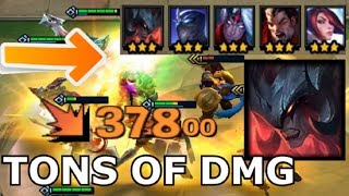 TONS of DAMAGE DEMON BLADEMASTER COMP - Teamfight Tactics Build Strategy Win Guide