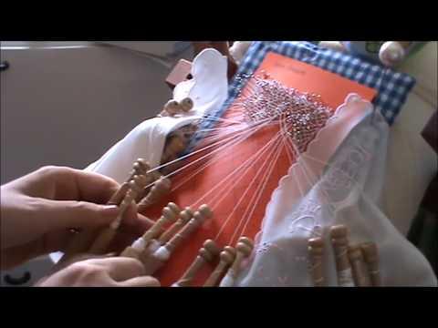 Bolillos: Como hacer la araña con aureola