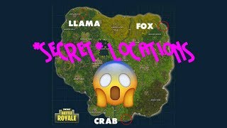 Fortnite: Battle Royale *SECRET* LLAMA, FOX, AND CRAB LOCATIONS - SEASON 3 BATTLE PASS