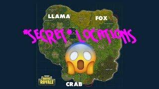 Fortnite: Battle Royale *SECRET* LLAMA, FOX, AND CRAB LOCATIONS - SEASON 3 BATTLE PASS